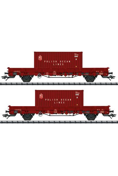 24555 Niederbordwagen-Set POL