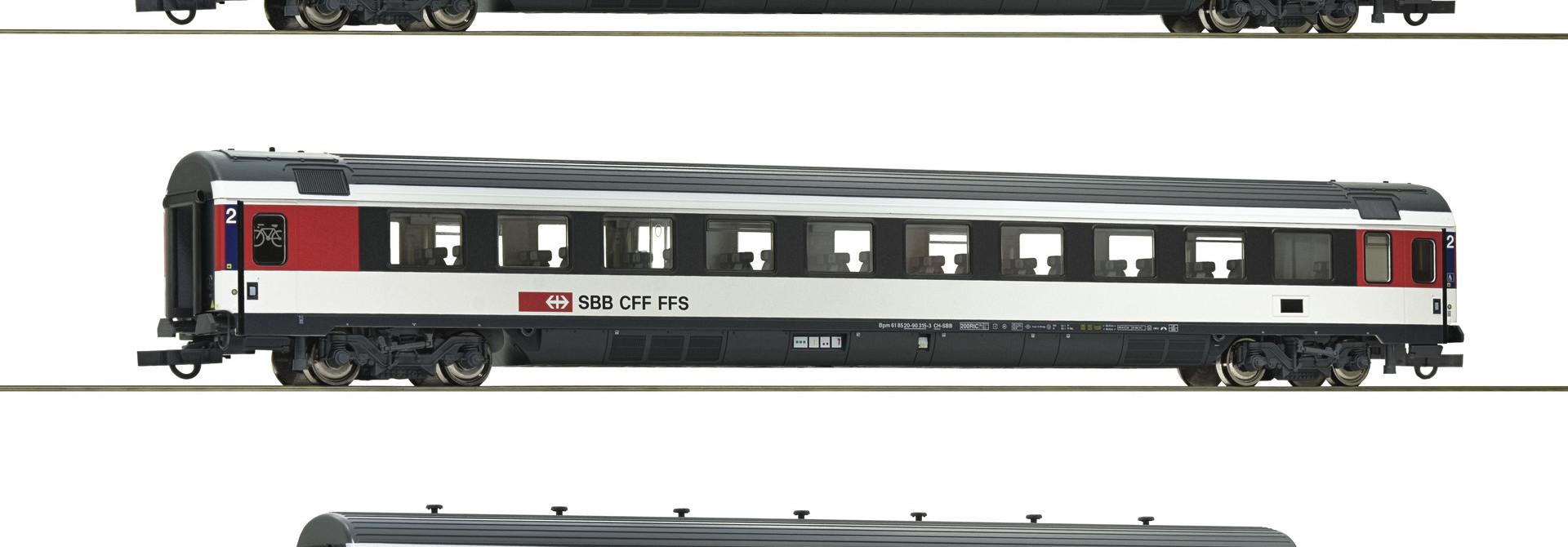 "74082 driedelige set rijtuigen ""Gotthard-Panorama Express"" SBB"