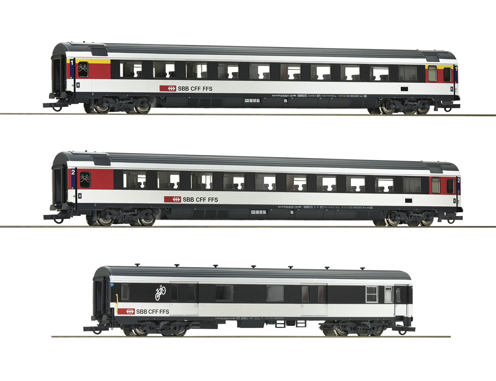 "74082 driedelige set rijtuigen ""Gotthard-Panorama Express"" SBB-1"