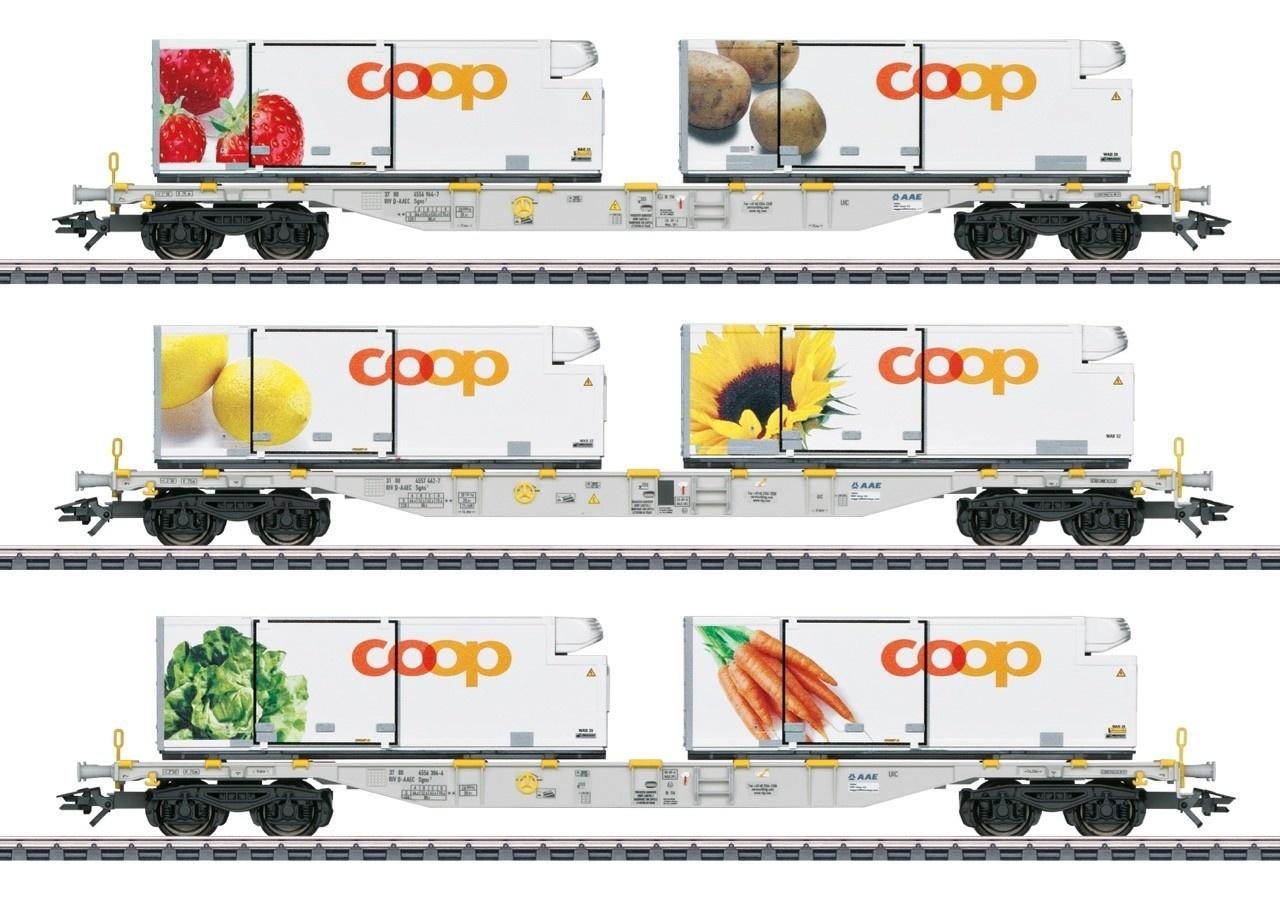 47461 Containerwagenset ''COOP'' driedelig-1