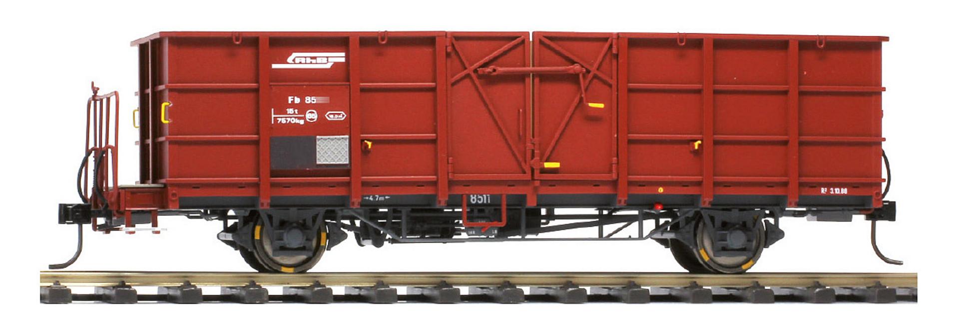 RhB Fb 8504 Stahlwand-Hochbordwagen rotbraun