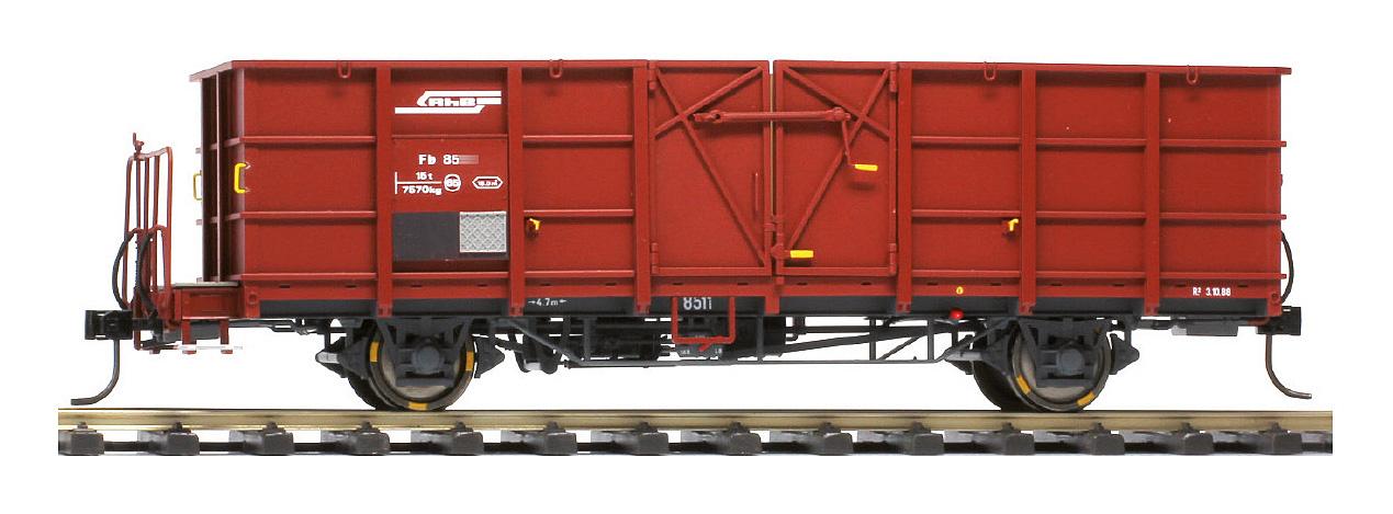 RhB Fb 8504 Stahlwand-Hochbordwagen rotbraun-1
