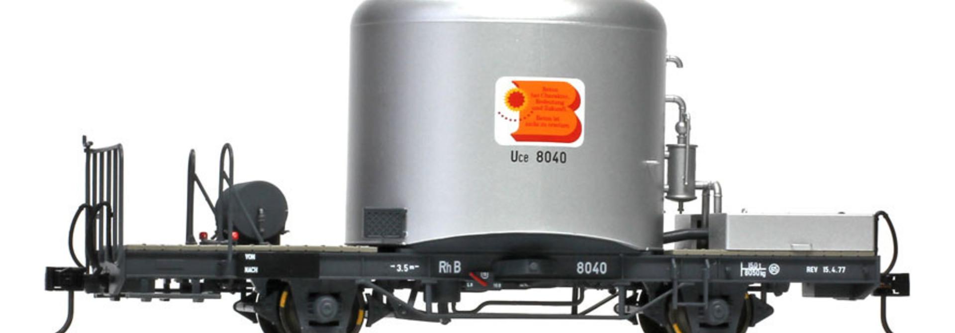 9452100 RhB Uce 8040 Zementsilowagen mit Kastenabdeckung