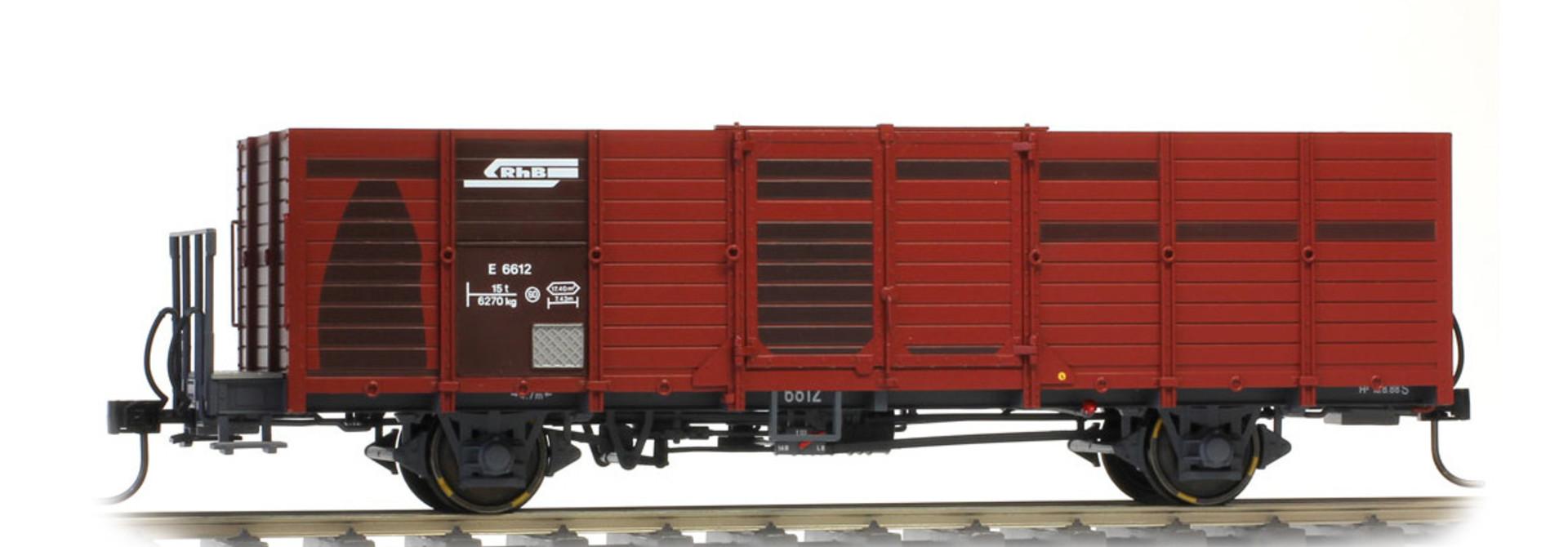 9451115 RhB E 6635 Holzwand-Hochbordwagen dunkelbraun