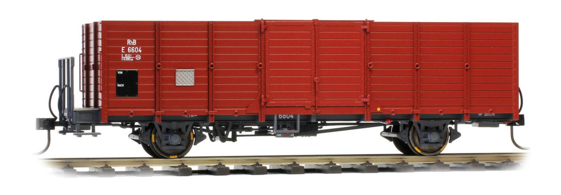 9451107 RhB E 6607 Holzwand-Hochbordwagen