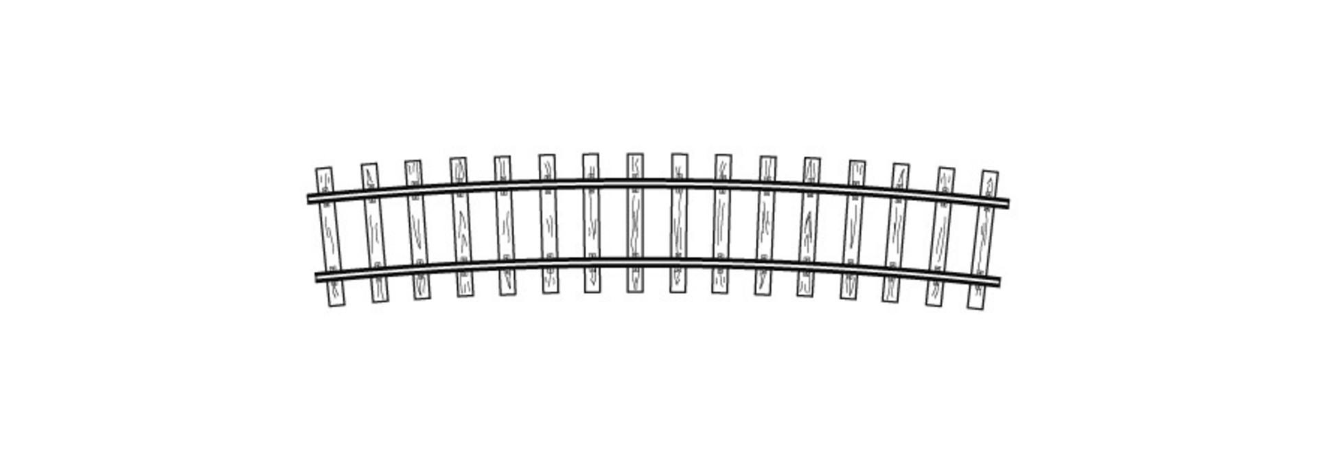 4294557 H0m Code70, gebogenes Gleis, R 520 mm, 12°, VPE 12 Stck.