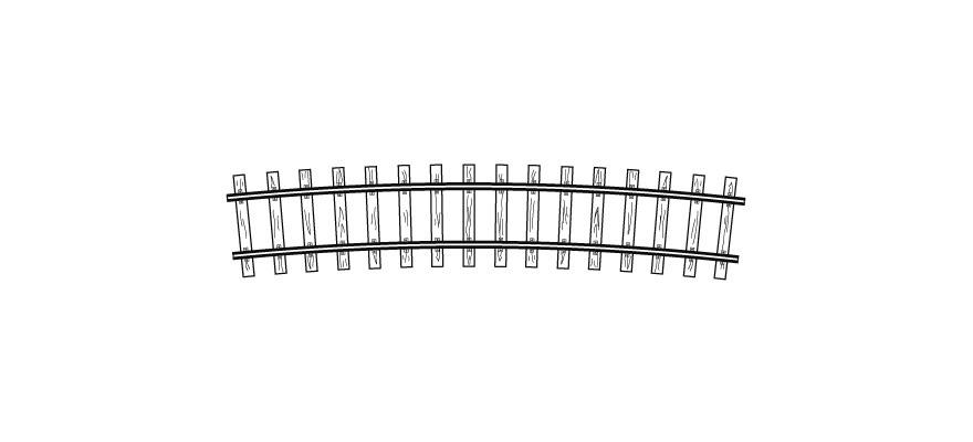 4294557 H0m Code70, gebogenes Gleis, R 520 mm, 12°, VPE 12 Stck.-1