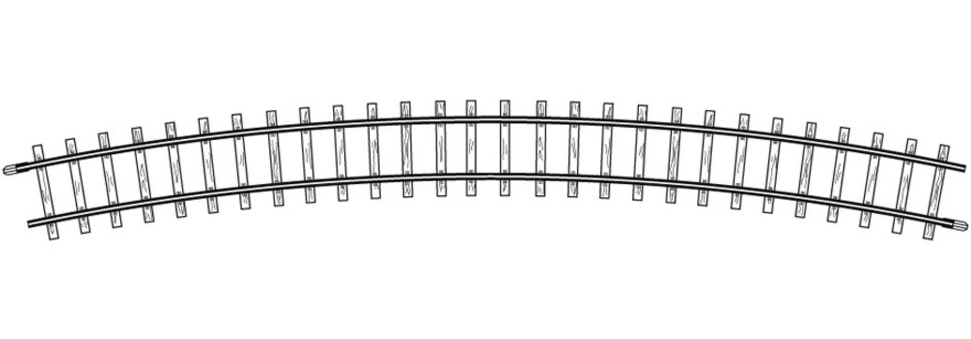 4276000 H0m gebogenes Gleis, R 515 mm, 24°, VPE 10 Stck.