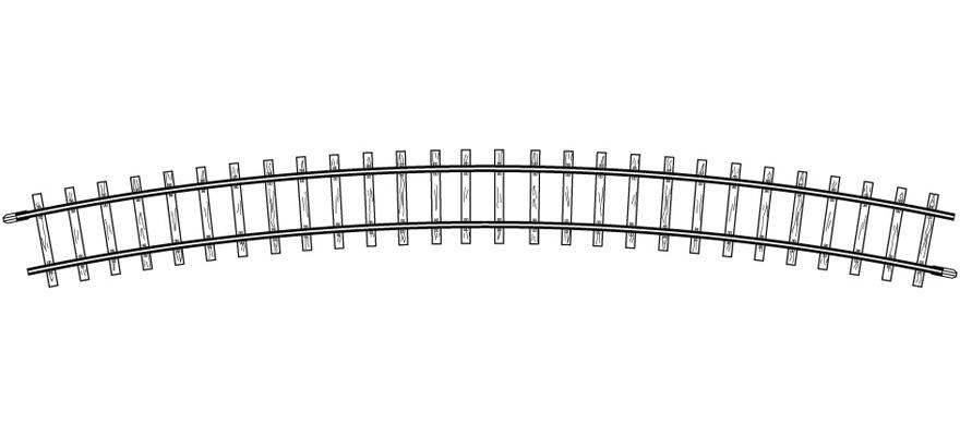 4276000 H0m gebogenes Gleis, R 515 mm, 24°, VPE 10 Stck.-1