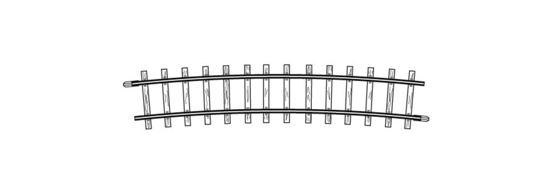 4275000 H0m gebogenes Gleis, R 515 mm, 12°, VPE 10 Stck.