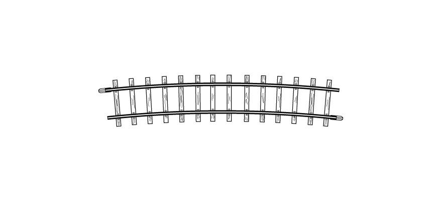 4275000 H0m gebogenes Gleis, R 515 mm, 12°, VPE 10 Stck.-1