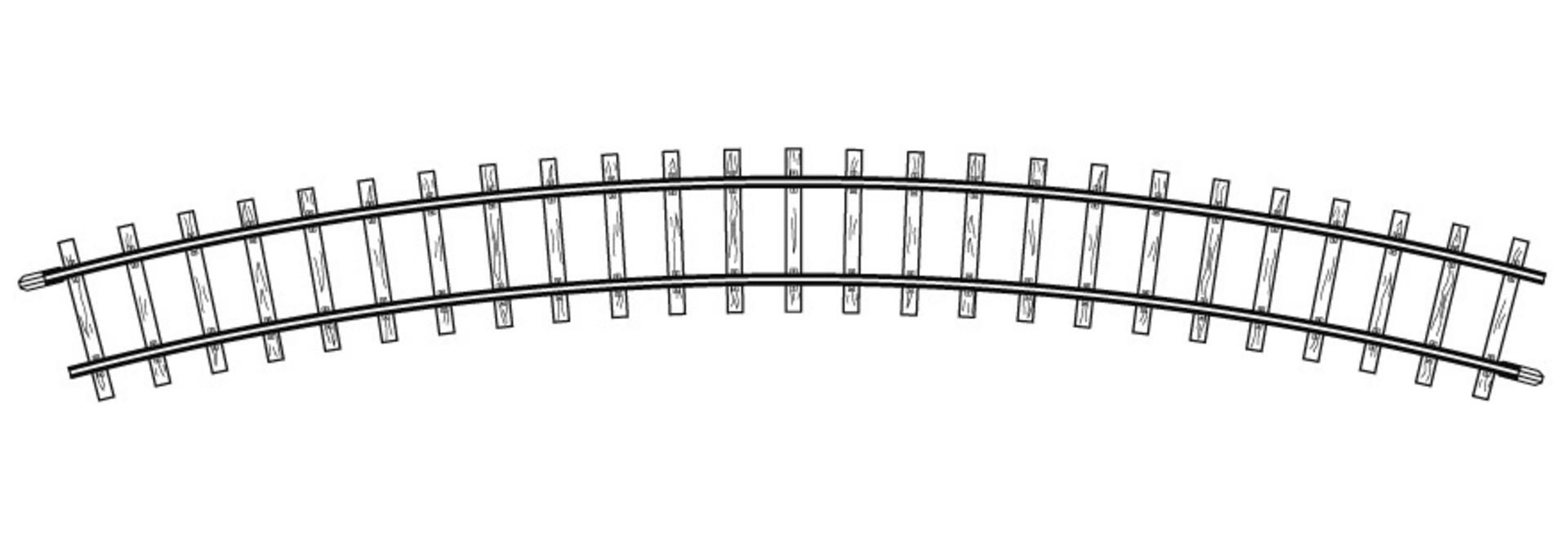 4240000H0m gebogenes Gleis, R 376 mm, 30°, VPE 10 Stck.