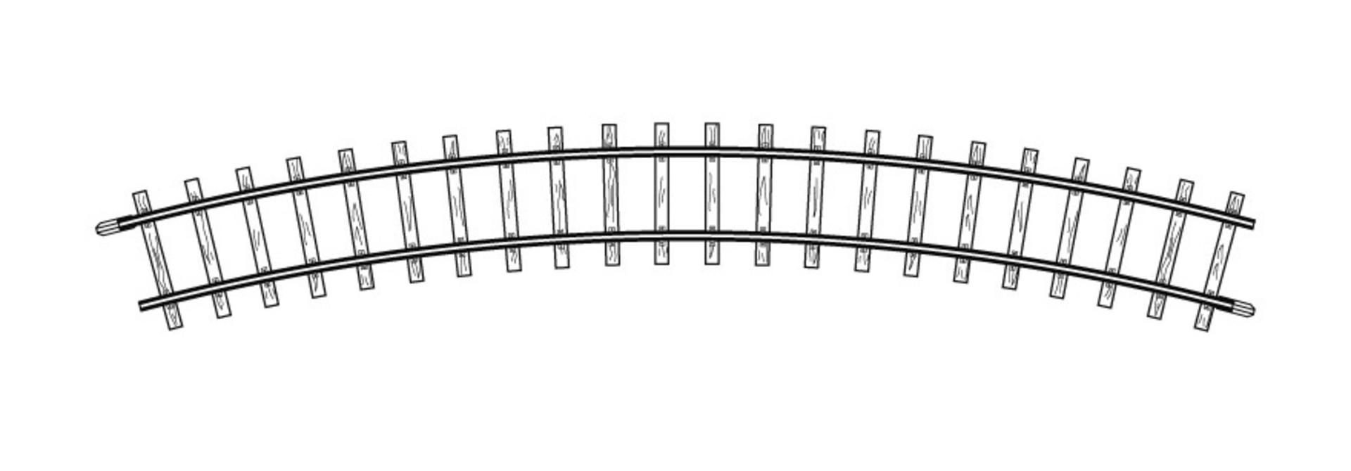 4230000 H0m gebogenes Gleis, R 330 mm, 30°, VPE 10 Stck.