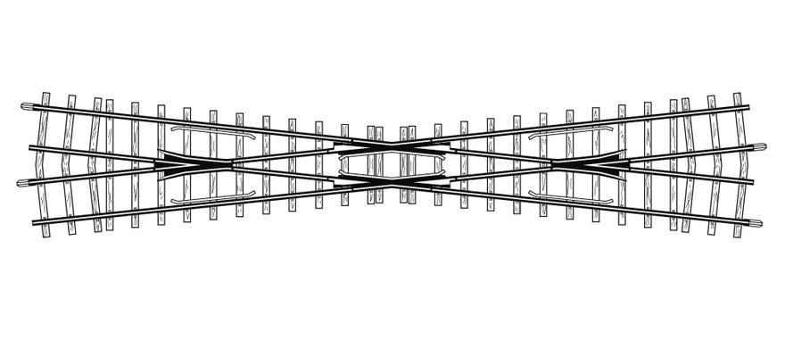 4218000 H0m 12° Kreuzung, 220 mm-1