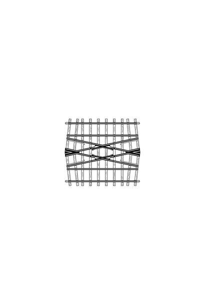 4217000 H0m 24° Kreuzung, 71 mm, für Doppelgleisverbindung