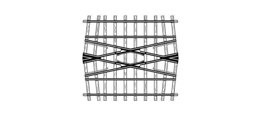 4217000 H0m 24° Kreuzung, 71 mm, für Doppelgleisverbindung-1