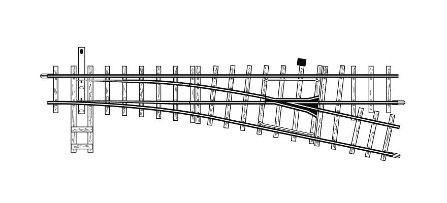 4210000 H0m 12° Weiche rechts, 162,3 mm, R 515 mm-1