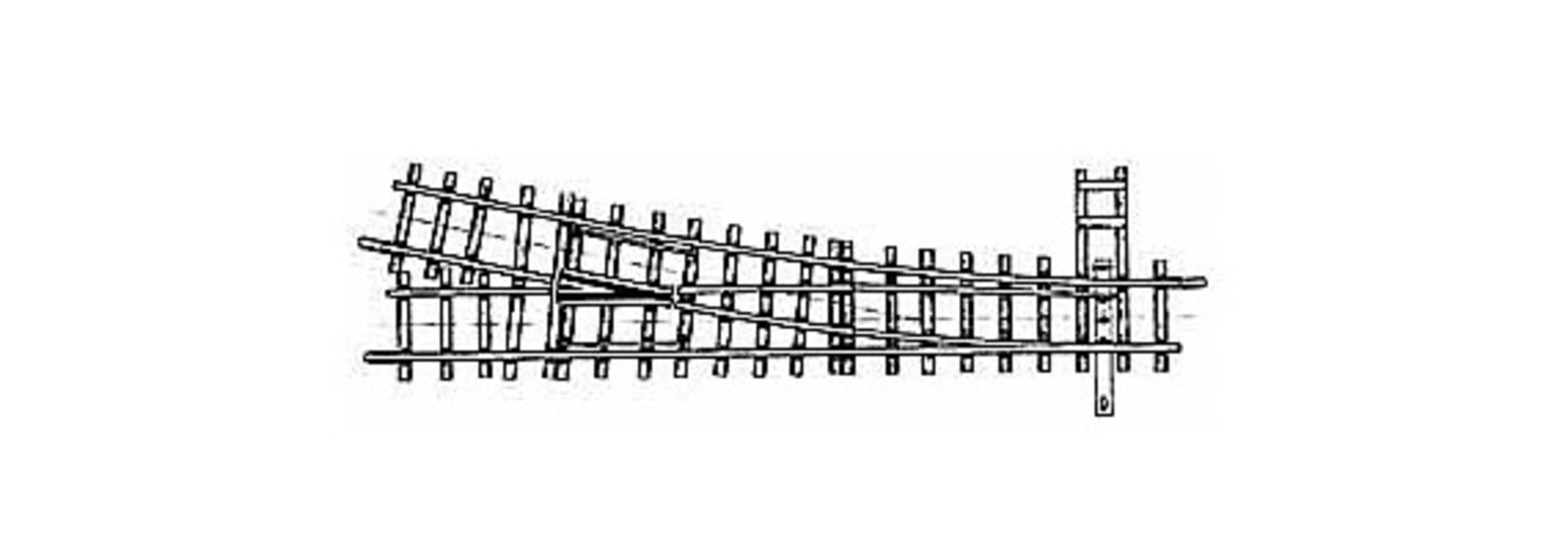 4208000 H0m 12° Weiche rechts gekürzt, 127 mm