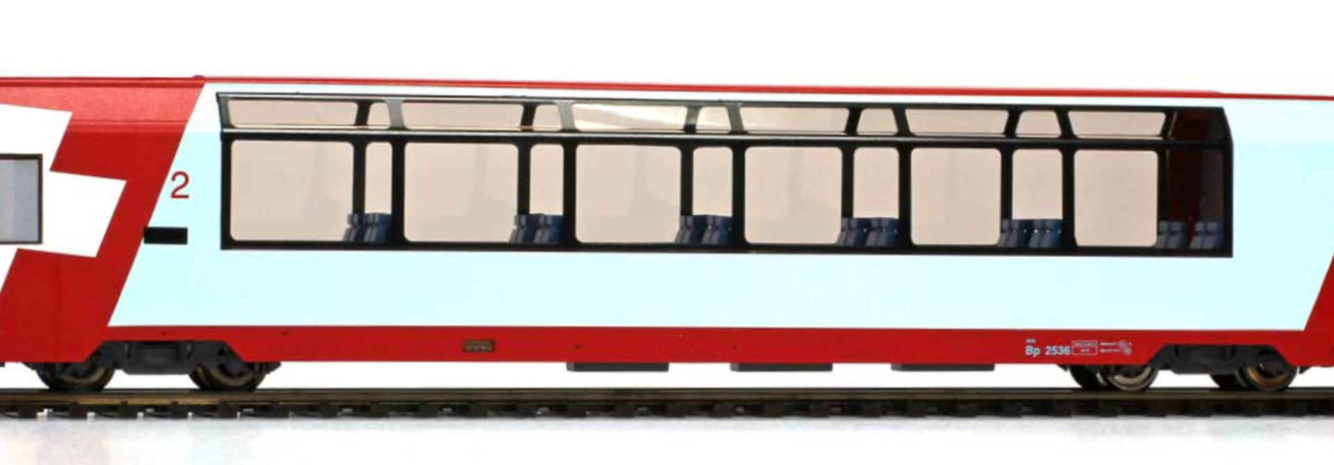 """3589127 RhB Bp 2537 """"Glacier Express"""" H0 3L-WS"""