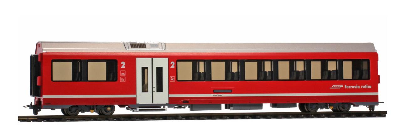 3298142 RhB B 574 01 AGZ Mittelwagen mit Innenbeleuchtung-1