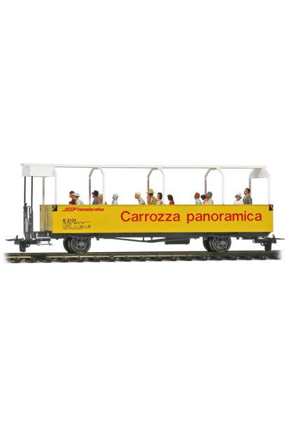 3280110 RhB B 2100 offener Aussichtswagen mit Preiser Figuren