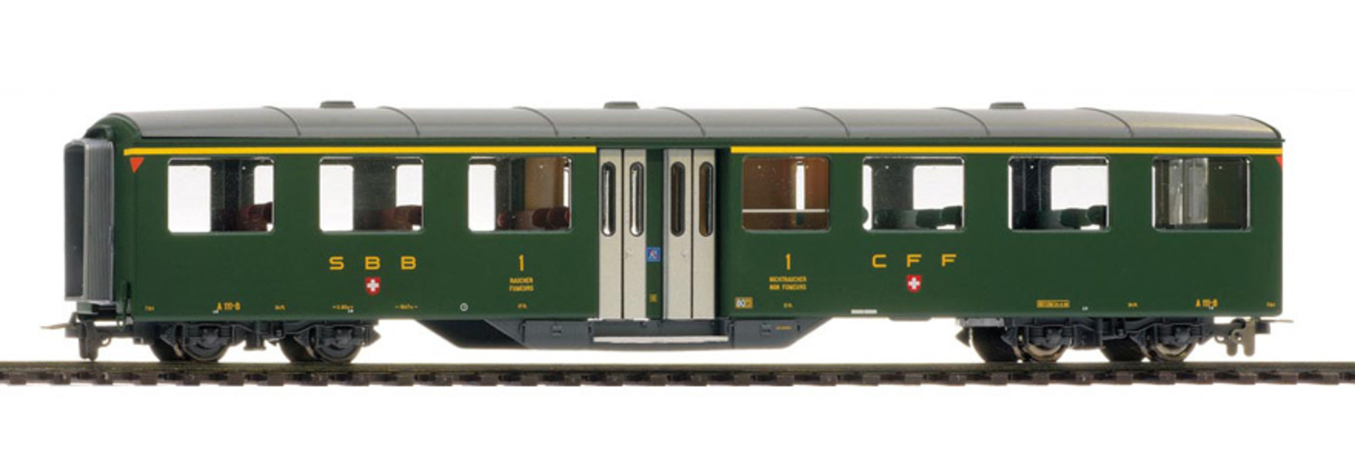 3259410 zb Historic A 111 Mitteleinstiegswagen grün