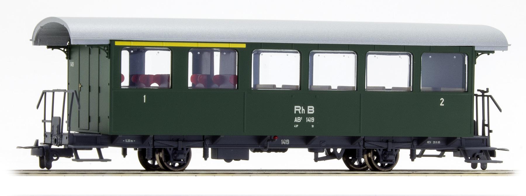 3233129 RhB AB2 1419 Zweiachser grün-1