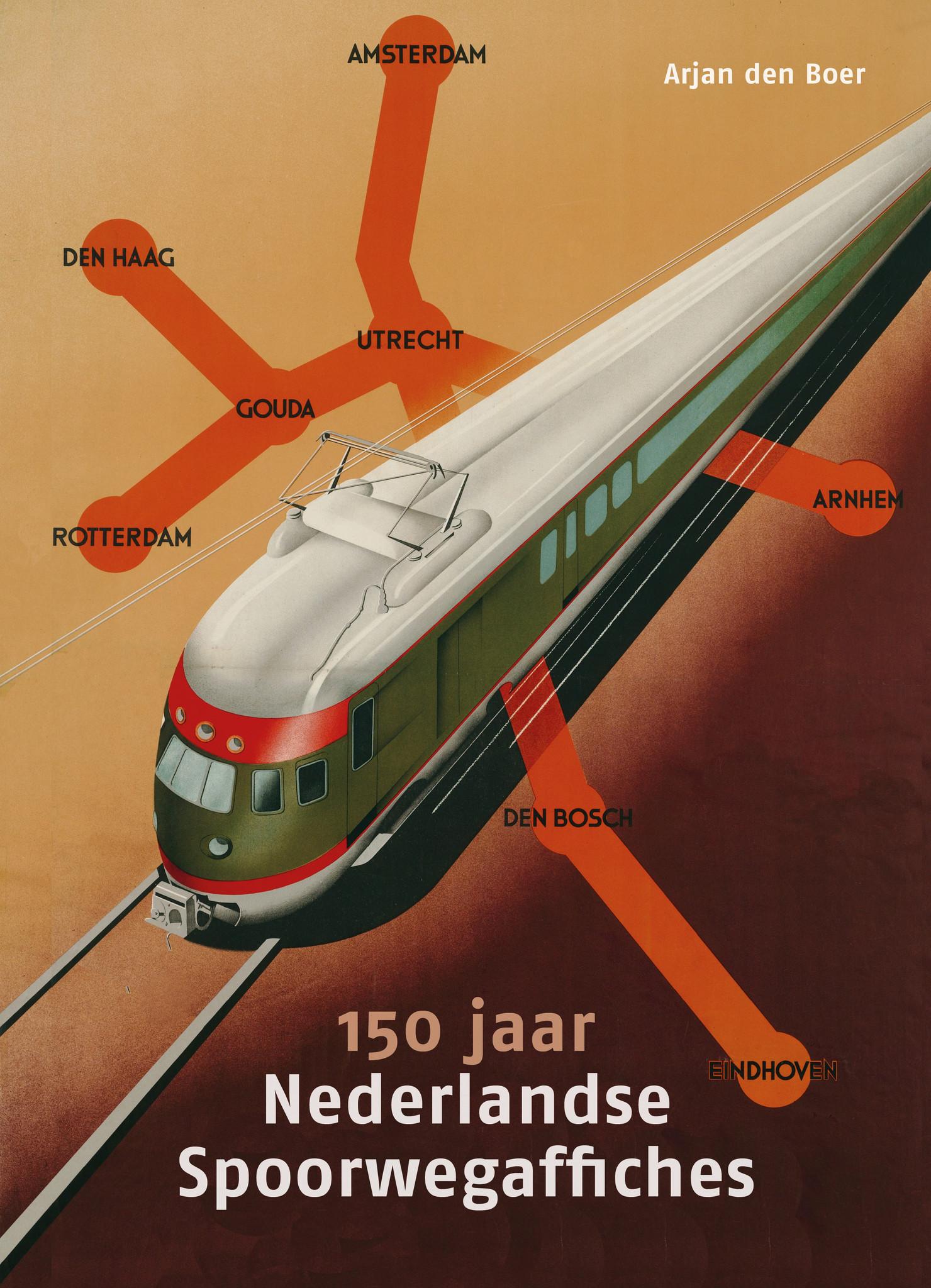 boek: 150 jaar Nederlandse Spoorwegaffiches-1