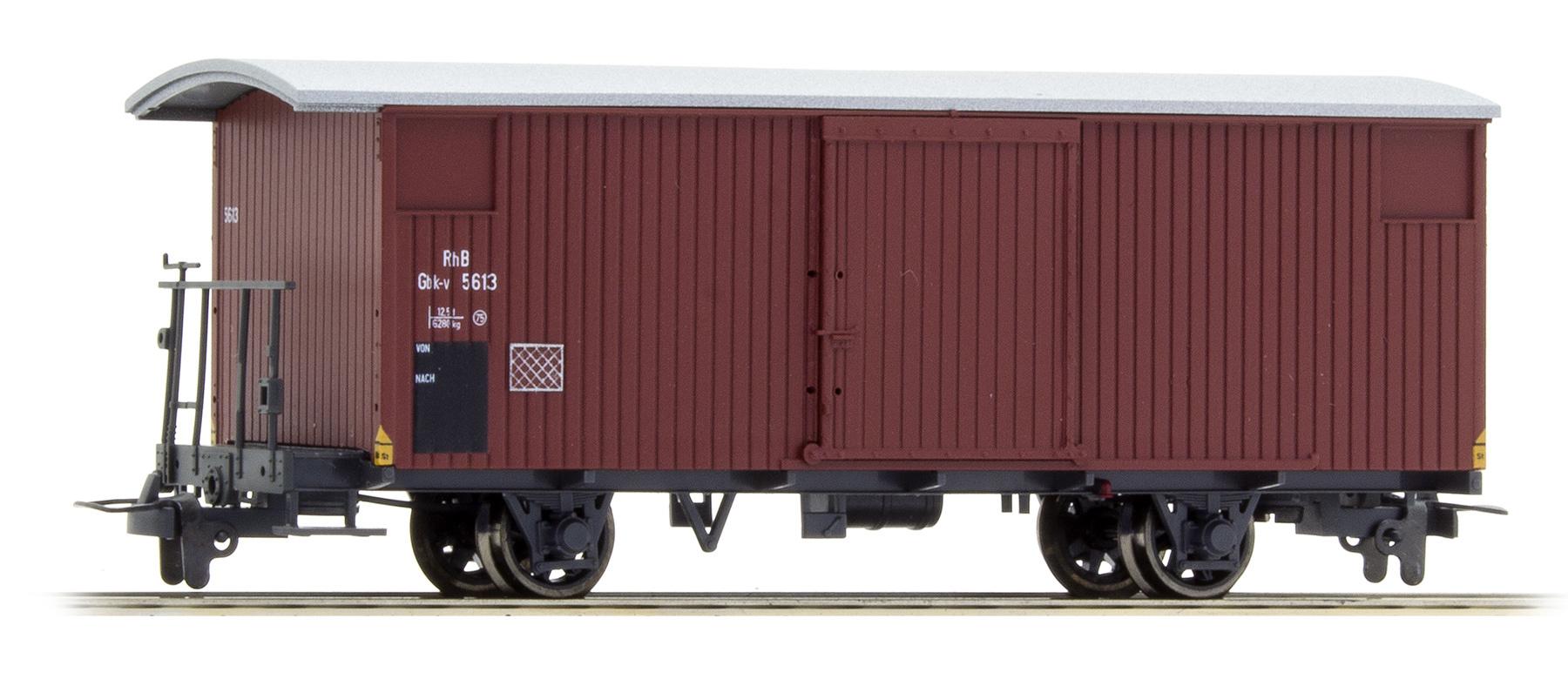 2293123 RhB Gbk-v 5613 gedeckter Güterwagen 70er-Jahre-1