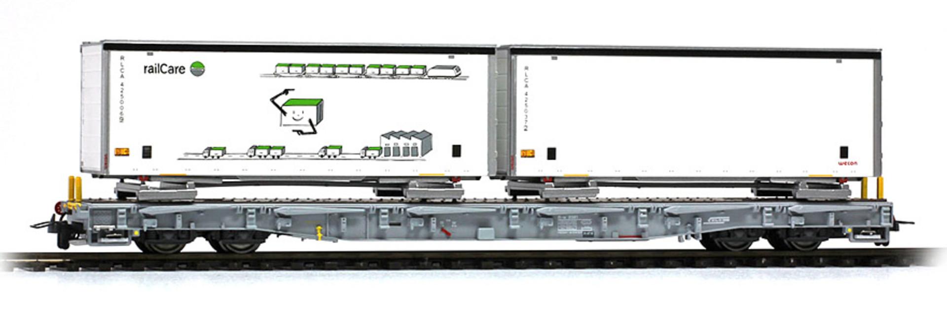 2291169 RhB R-w 8379 Tragwagen mit Schiebeplanen-WB
