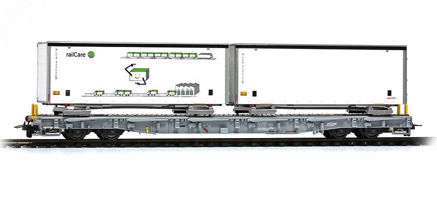 2291169 RhB R-w 8379 Tragwagen mit Schiebeplanen-WB-1