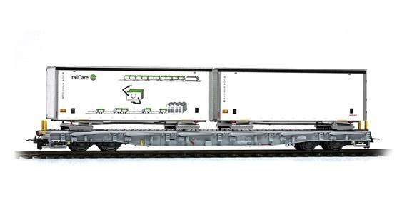2291163 RhB R-w 8383 Tragwagen mit Schiebeplanen-WB-1