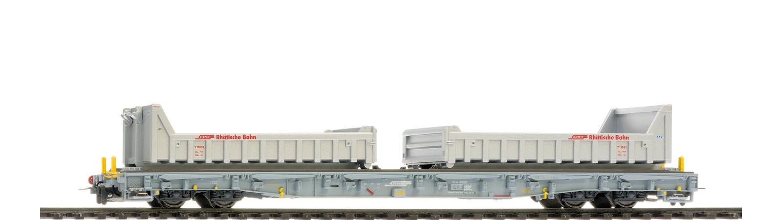 2291119 RhB R-w 8209 ACTS-Tragwagen mit Wuhrsteinmulden-1