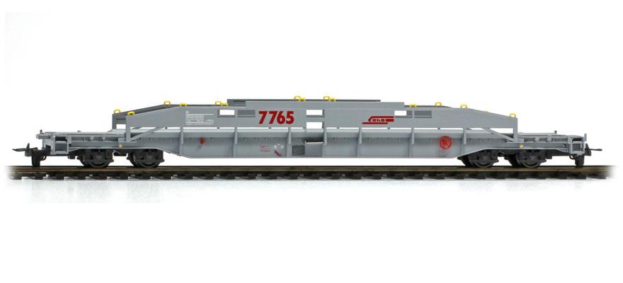 2290105 RhB Sl 7765 ACTS-Tragwagen unbeladen-1