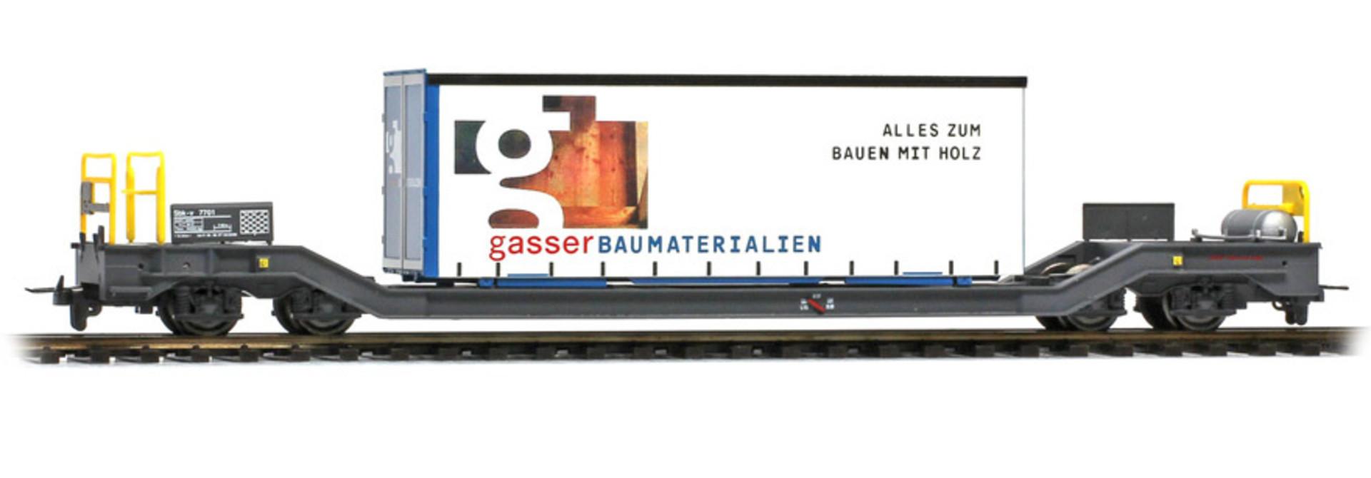 """2289161 RhB Sbk-v 7701 mit Planenbehälter """"Gasser"""""""
