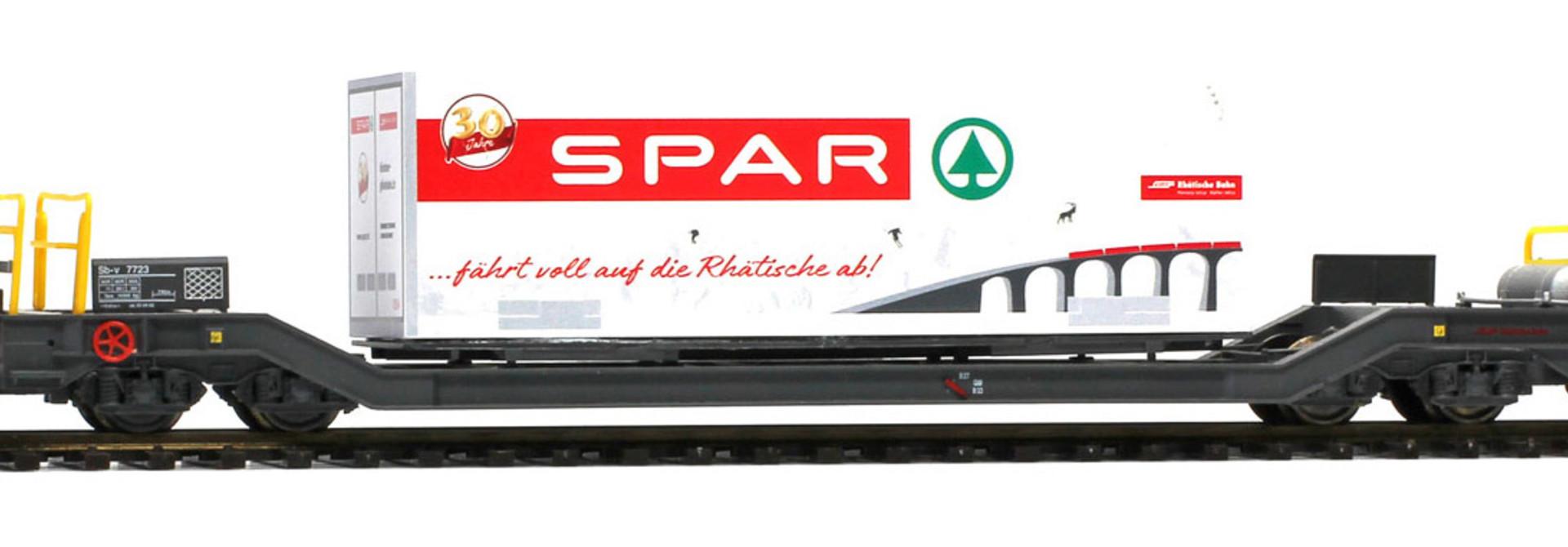 "2289118 RhB Sb-v 7728 mit Container ""Spar Berge"" 125 A"