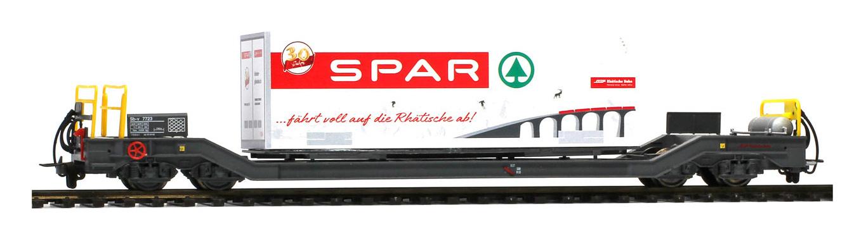 "2289118 RhB Sb-v 7728 mit Container ""Spar Berge"" 125 A-1"