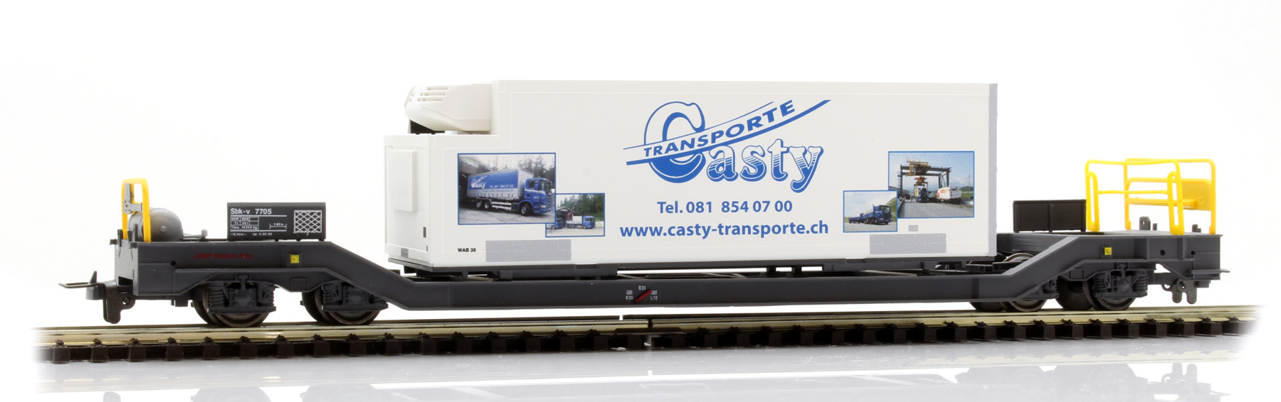 "2289115 RhB Sbk-v 7705 mit Kühlcontainer ""Casty""-1"