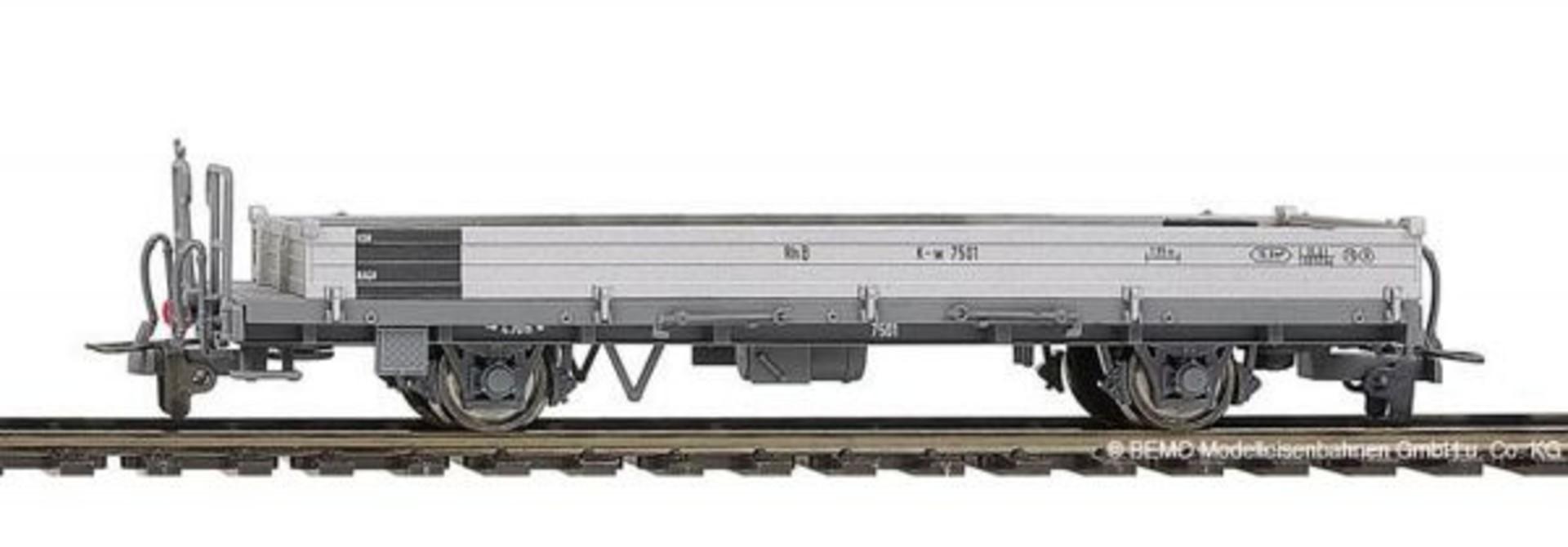 2267105  RhB K-w 7505 Stahlwand-Flachwagen