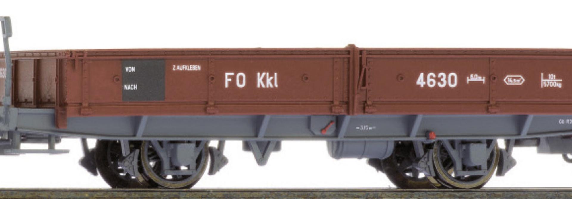 2257217 FO Kkl 4627 Niederbordwagen braun