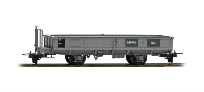 2257196 RhB Xk 8616 Bahndienst-Flachwagen grau-1