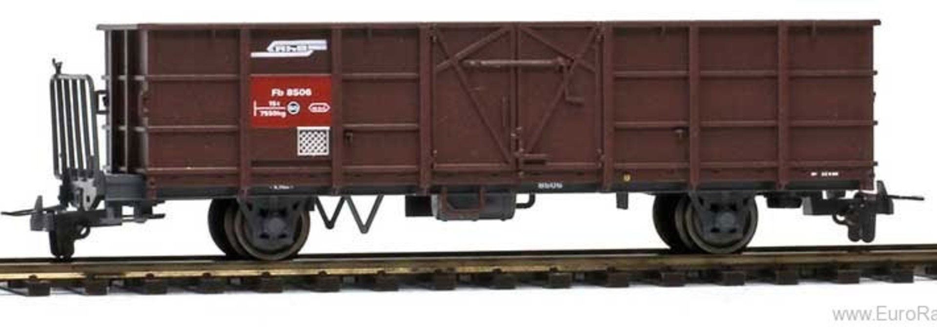 2255116 RhB Fb 8506 Hochbordwagen braun