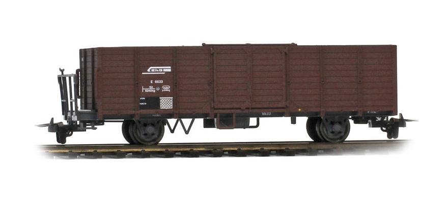 2251129 RhB E 6619 Hochbordwagen (Bretter ausgebessert)-1