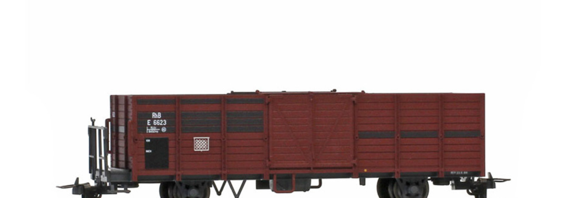 2251113 RhB E 6623 Hochbordwagen (Bretter ausgebessert)