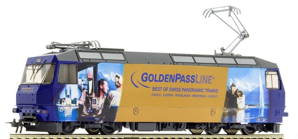 """1459334 MOB Ge 4/4 8004 """"GoldenPassLine"""" H0 3L-WS mit LokSound M4-1"""