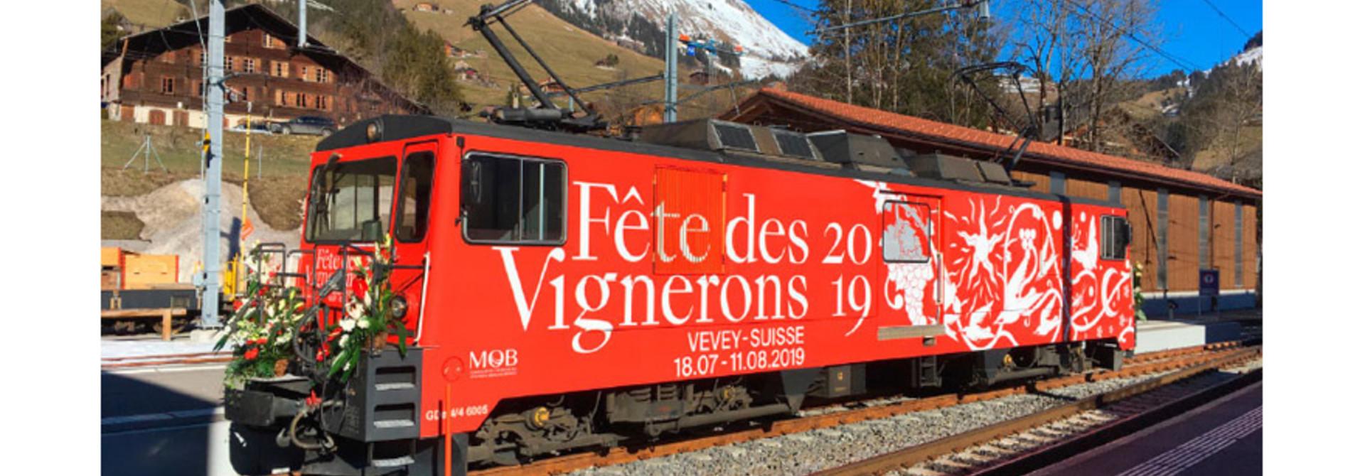 """1280335 MOB GDe 4/4 6005 Lok """"Fête des Vignerons"""""""