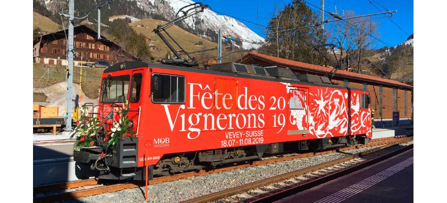 """1280335 MOB GDe 4/4 6005 Lok """"Fête des Vignerons""""-1"""