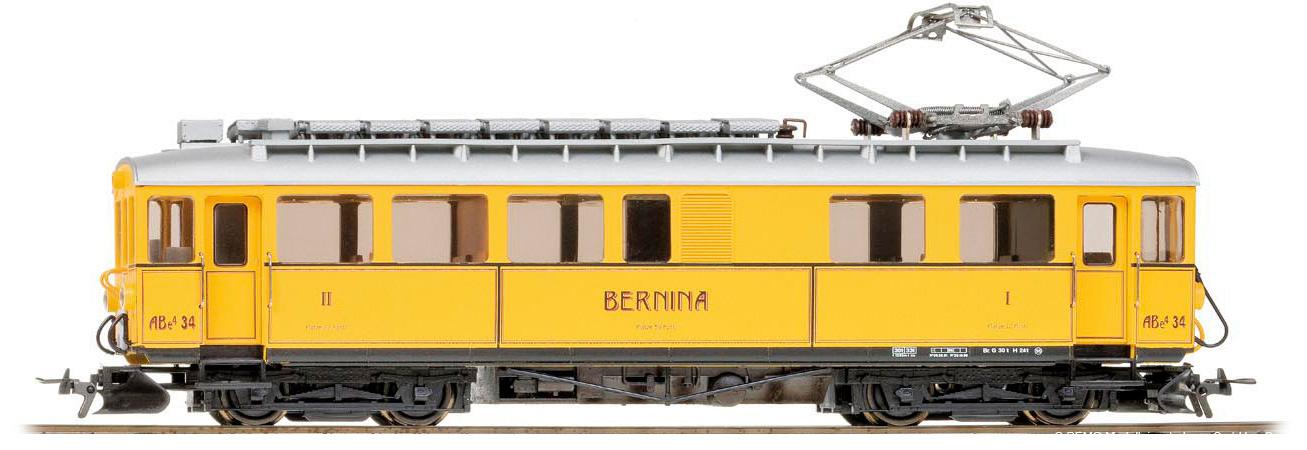 1268164 RhB ABe 4/4 34 Nostalgietriebwagen gelb-1