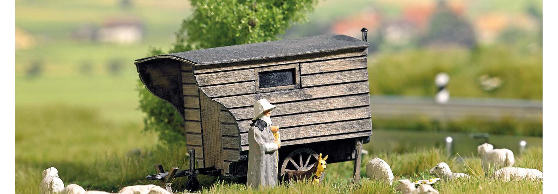 1981 Herderswagen, bouwpakket van echt hout