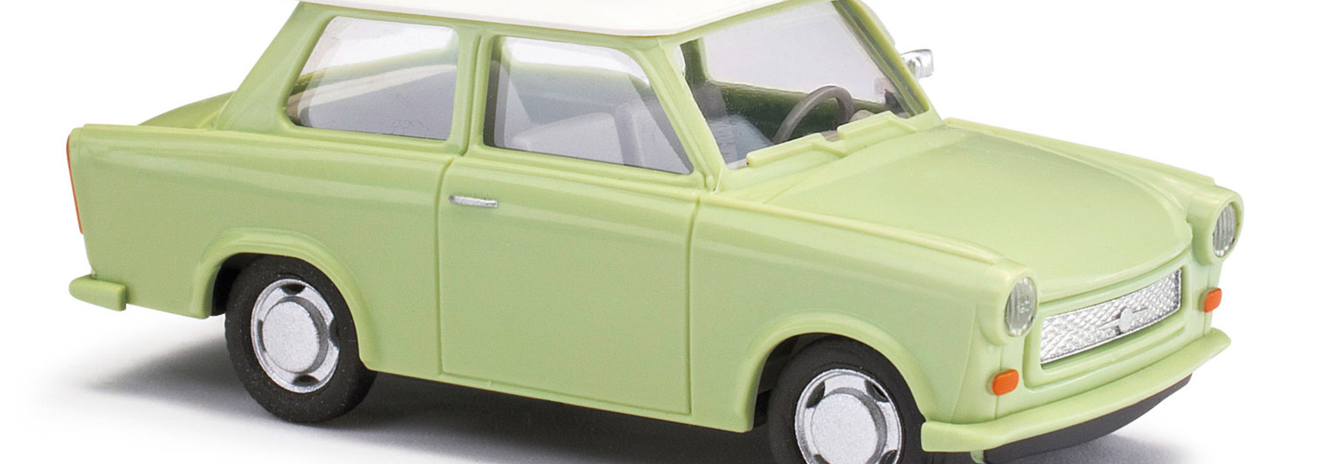 Trabant P601 Limousine, Grün/weißes Dach 53106